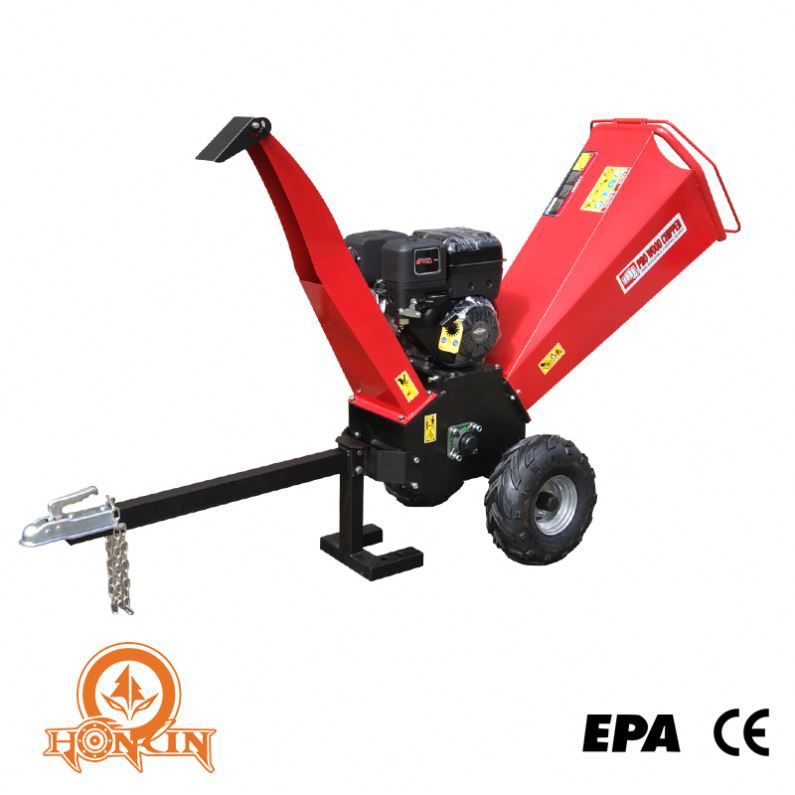 Forestry machinery China manufacturer CE approved Honda B&S motor hot selling professional wood chipper with belt conveyor