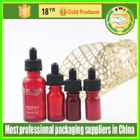 Food Grade 10ml clear glass round bottle with black tamperproof cap
