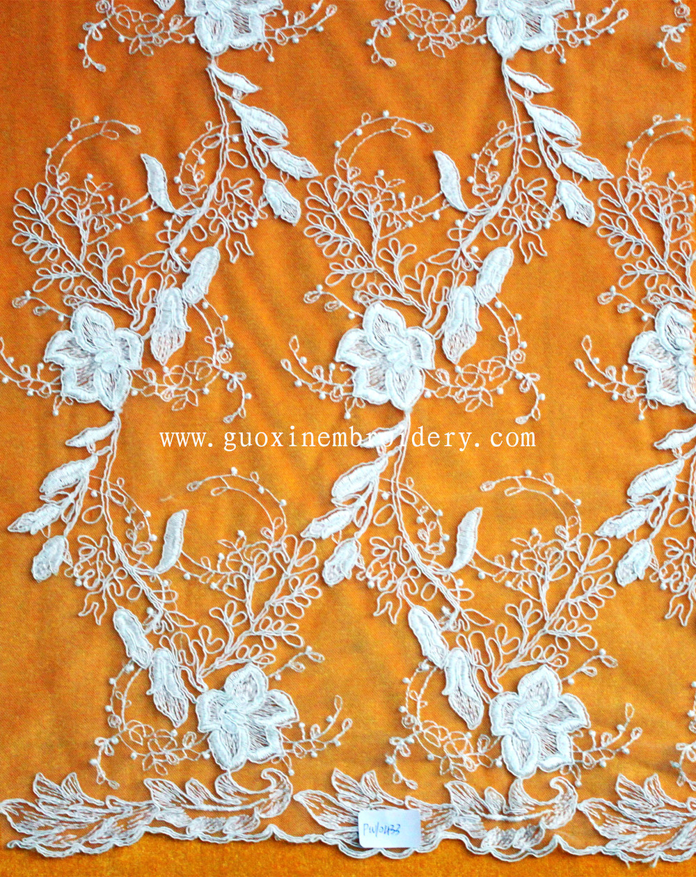 factory direct sale wedding lace fabric, embroidery lace designs