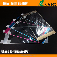 2.5D Color titanium alloy Tempered Glass Screen Protector for Huawei P7