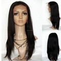 factory price unprocessed natural color hand-tied glueless human hair wig with baby hair