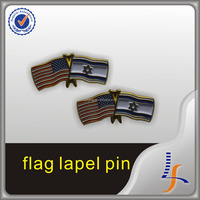 Customized Good Quality Soft Enamel Cross Flag Badge