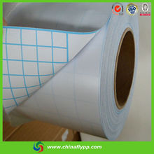 80100 matt cold lamination PVC film ,white paper with blue lines used for image protection,factory price