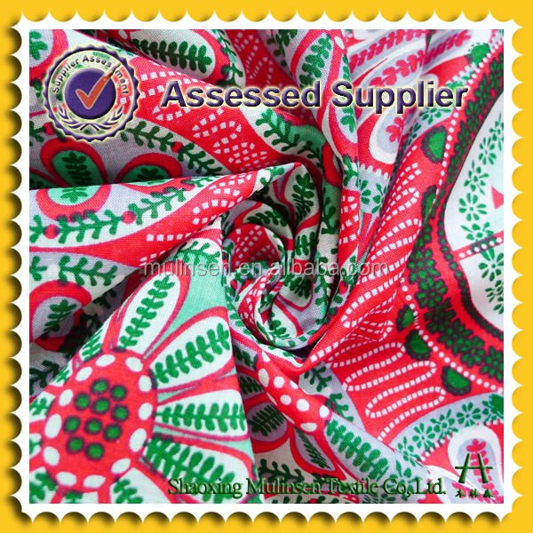 2015 HOT Sales Shaoxing woven printed voile Italian cotton fabric