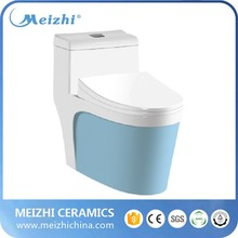 Bathroom sanitary ware light blue color toilet