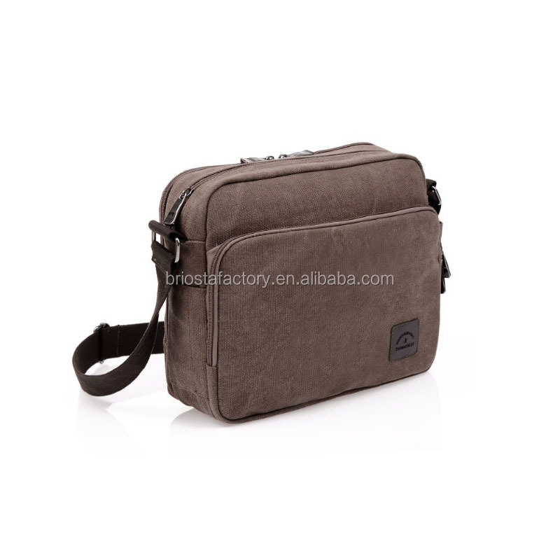 Wholesale Vintage multi-functional Canvas Menssenger Bag