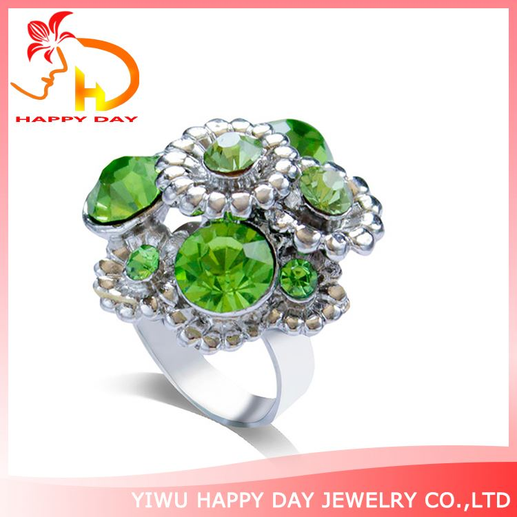 Professional made superior quality woman flower rhinestone Ring