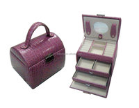 Factory manufacturer high end Leather travel Jewelry Case