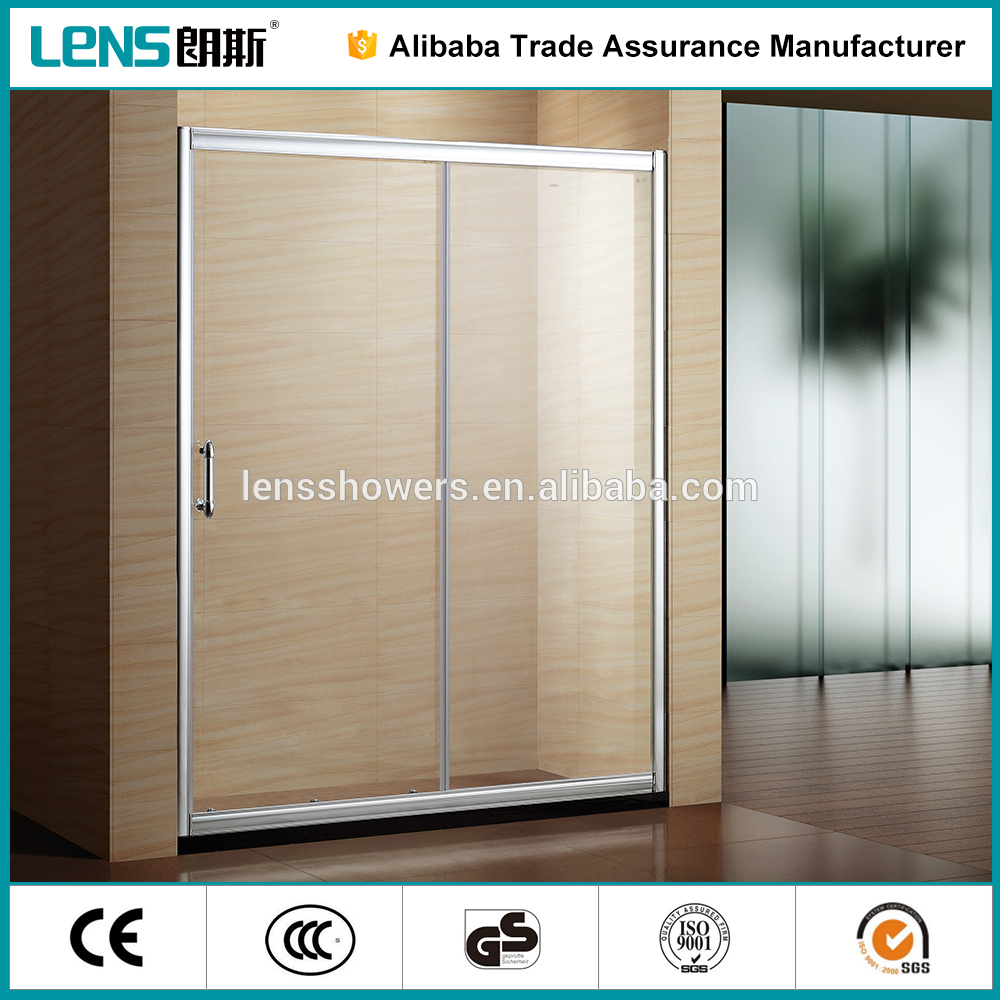 aluminum frame double roller sliding shower doors