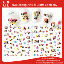 Newest F Series DIY Water Transfer Printing Nails Art Sticker Cute Mickey Mouse Cartoon Nail Decal Sticker