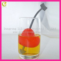 Lovely eco-friendly silicone heart tea infuser,customized shaped silicone tea part