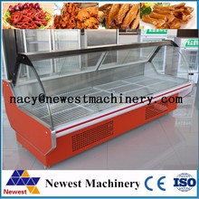 Supermarket used refrigerated show case for sale,meat show case refrigerator,hot food display cabinet