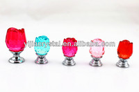 30MM Crystal rose cabinet door drawer knobs & pull