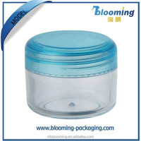 Small clear ps loose powder jar for cosmetic packaging