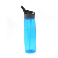 bpa plastic drink water bottles with straw made in china