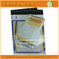 Self adhesive plastic shipping packaging