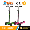 Adjustable Pole Kick Space Scooter With LED Light