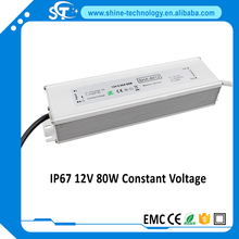 80w 12-24v waterproof led driver IP67 power supply with CE ROHS(SHA-8012 SHA-8024)