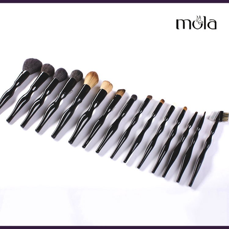 Wholesale factory price 15 pcs professional make up brushes makeup brush set