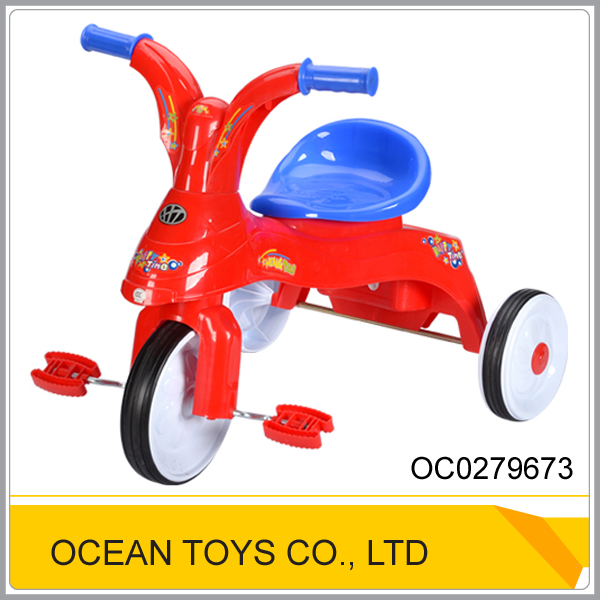 Top quality plastic ride on toy cheap kids tricycle OC0279673