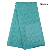 New pattern voile lace fabric nigerian for women fashion polyester design china swiss african lady in party