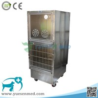 YSVET610B Veterinary Clinic Good Quality Stainless Steel Pet oxygen cage