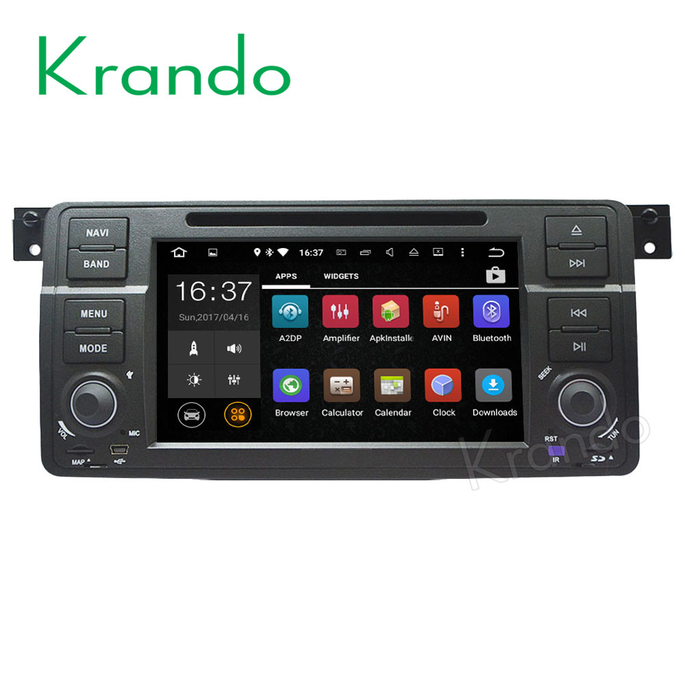 Krando Android 7.1 car radio gps dvd player android navigation for bmw e46 m3 rover 75 ZT MG1998-2005 WIFI 3G BT DAB+ KD-BW146