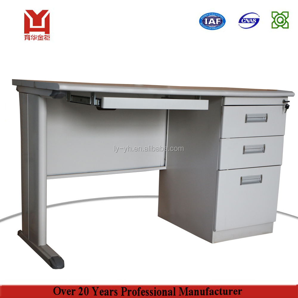 Singal Person Iron Computer Desk / Cheap Steel Metal Office Computer Desk Table