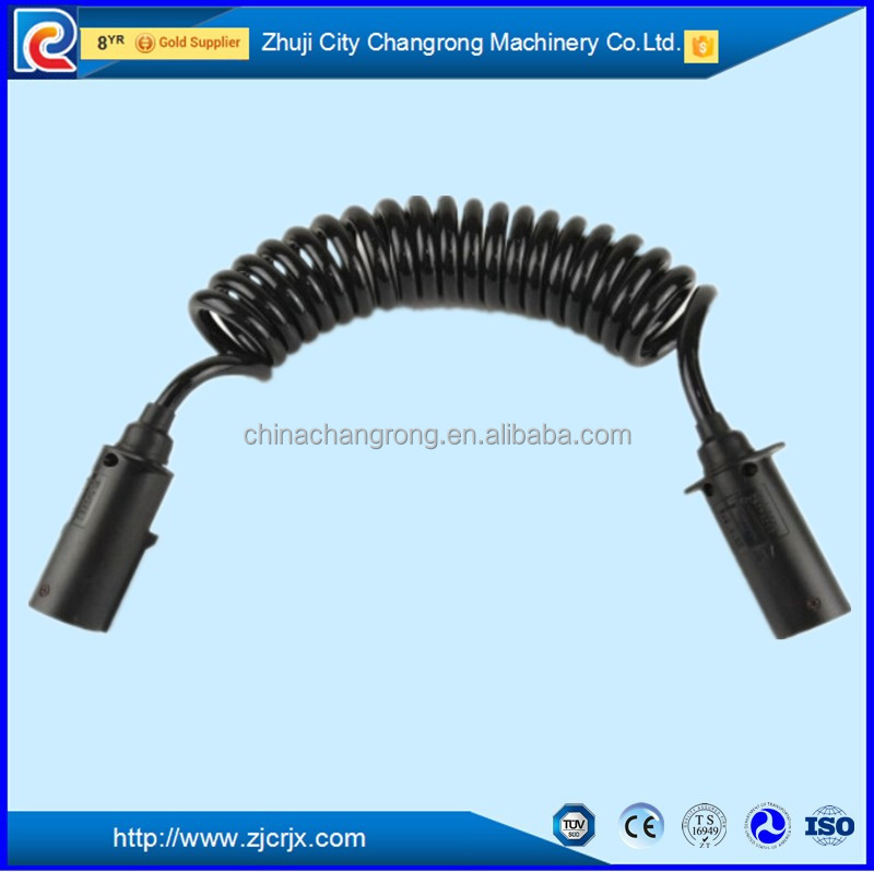 Truck truck 7 wire Electric recoil spiral cable spiral coiled wire cable