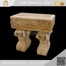 Hand carved artificial stone kitchen basin , garden stone sink