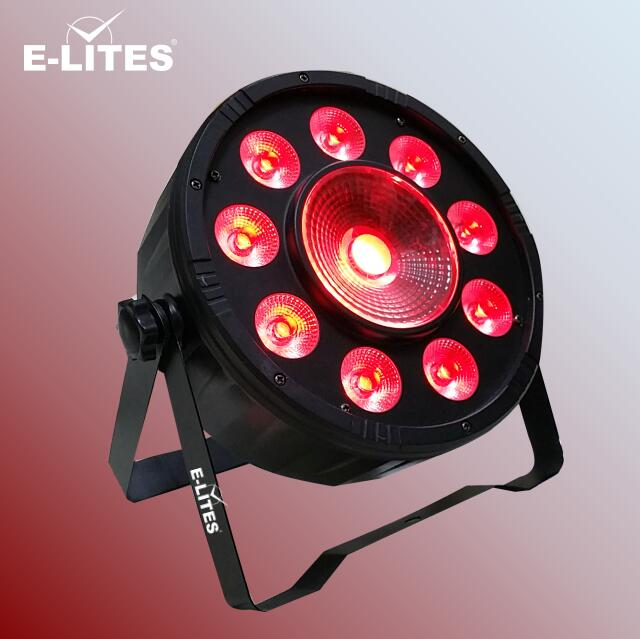 9pcs 9W RGB 3in1 Led Par Light+30W plastic COB Led Par