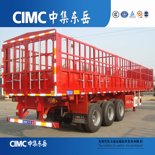 3 axle cimc horse delivery cheap fence transportation semi trailer