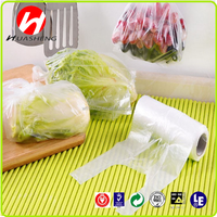 high quality clear hdpe T-shirt bags on roll for shopping and fruits