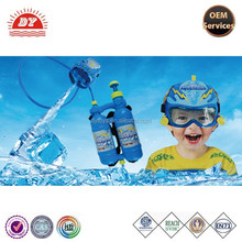 with helmet and goggle water gun set custom OEM plastic summer hot toy gun set boys favourite glue gun