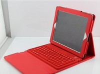 Groupon Ipad Wireless Bluetooth 3.0 Silicone Keyboard With Leather Stand Cover Case For ipad 2 3 Ipad Wireless Keyboard