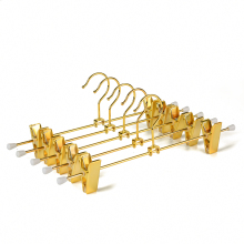 Duorable Gold Metal Single Clip Hanger For Pant