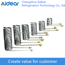 stainless steel tube spiraled heat exchanger cooling coil