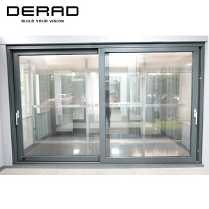 Aluminium Double Pane Sliding Glass Doors