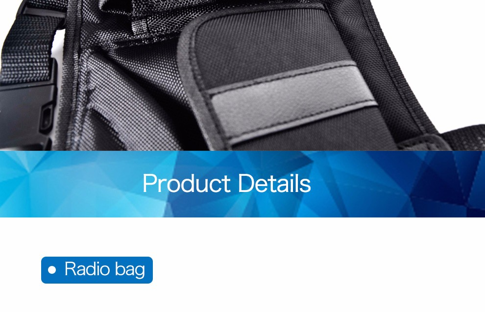 Best Black Walkie Talkie Soft Case For Handheld Radio BAOFENG/ZASTONE/HYT/TYT two way radio carry case PT-05