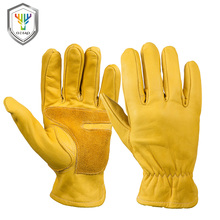 Custom Leather craft xl Grain Cowhide Work Gloves