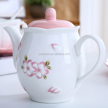 Restaurant ceramic teapot 550ml porcelain milk pot floral coffee jug for Wedding gift