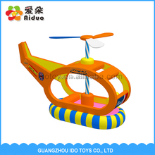 Kids Indoor Toy Playground Equipment Rocking Helicopter, High Quality Indoor Soft Play Equipment