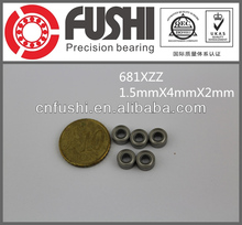 681XZZ Bearing 1.5x4x2MM Miniature Ball Bearings Made In China 681XZZ