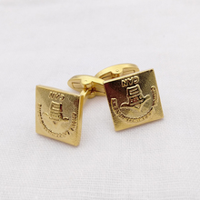 custom brass cufflink die casting gold plated cufflink blanks
