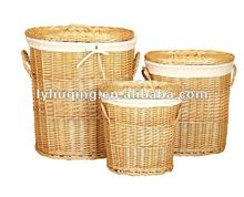 oval laundry wicker basket with lids