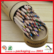Recycle paper pencil box for students paper cardboard pen tube round pen box cylinder pen case