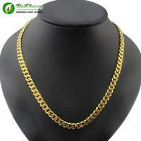 Beichong brand wholesale fashion gold necklace jewelry new men gold neck chain designs