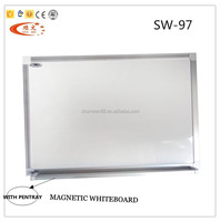 Wall-mounted magic magnetic whiteboard parts with aluminum frame for school and office
