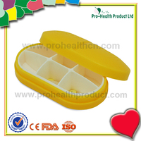 China Supplier Capsule Shaped 6 Cases Light Pill Box