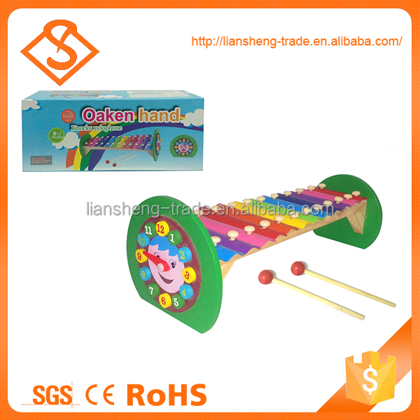 Educational wooden musical toy cartoon piano for children gift